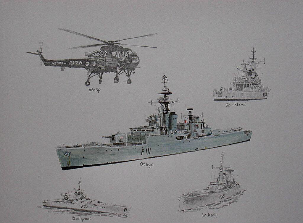 RNZN Ships and Wasp Helicopter from the 1960's, All long gone now, but there will be quite a few crew still here who will remember them.