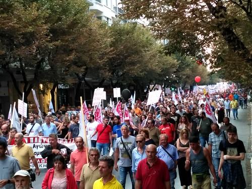 8-9-2018 Συλλαλητήριο ΠΑΜΕ στη Θεσσαλονίκη ενόψει ΔΕΘ