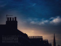 Rooftops and Chimneys Sunset
