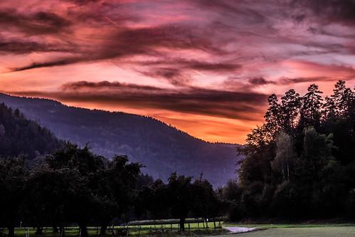Abendhimmel über Kärnten