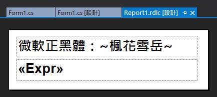 [SSRS] 透過 ReportViewer 變更文字字型-11