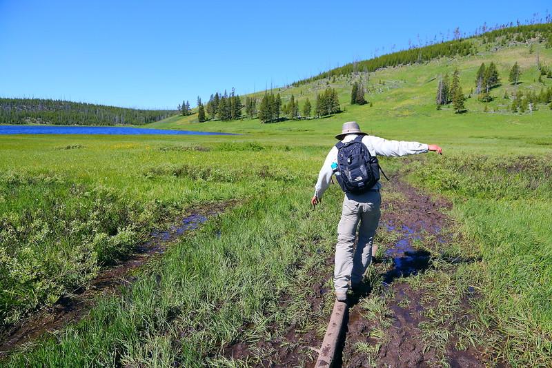 IMG_6930 Hiker on Cascade Lake Trail