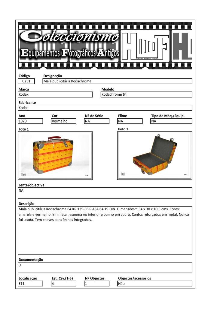 Inventariação da colecção_0251 Mala publicitária Kodachrome Briefcase