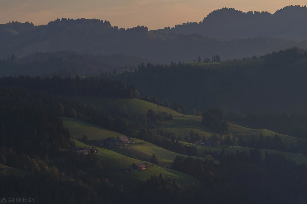 Hills in the morning light - Emmental