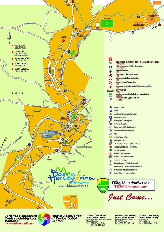 Туристическая карта Тешаня