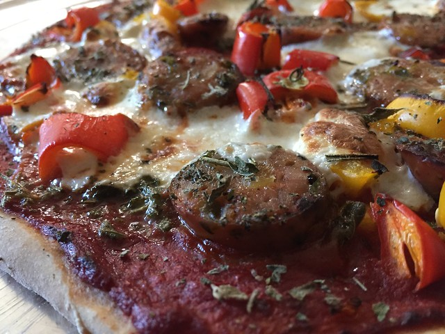 Sausage / Sweet peppers pizza
