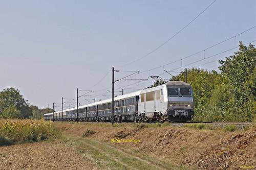 BB 26005 Train VSOE 20170 Bâle-Calais à Raedersheim