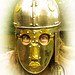 Roman Cavalry Helmet unmounted at Chesters Fort on Hadrian's Wall 3 of 5