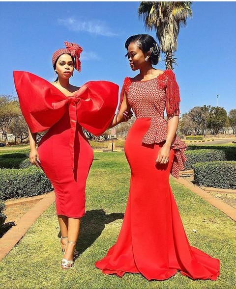 Traditional Wedding Dresses 2019 South Africa: South African Traditional Dresses 2019 Mr Shweshwe