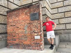 Gdansk shipyard wall replacing Berlin Wall
