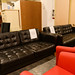 3+2 black button back leatherette sofa E450 set