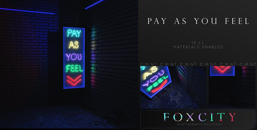FOXCITY. Photo Booth – Pay As You Feel @ Vanity