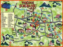 Туристическая карта Сокобани с достопримечательностями