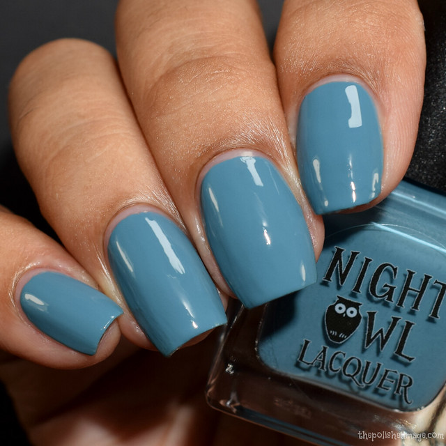 night owl lacquer watching the rain