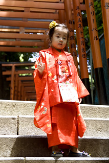 Little girl in yukata, Nezu Shrine, Tokyo