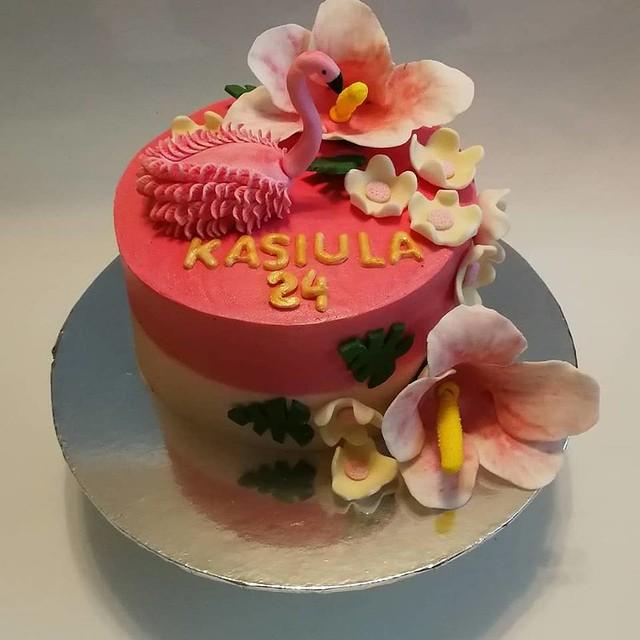Flaming Birthday Cake by Aneta Olechno of Polski sklep Lusia