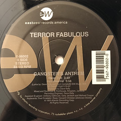 TERROR FABULOUS:GANGSTER'S ANTHEM(LABEL SIDE-A)