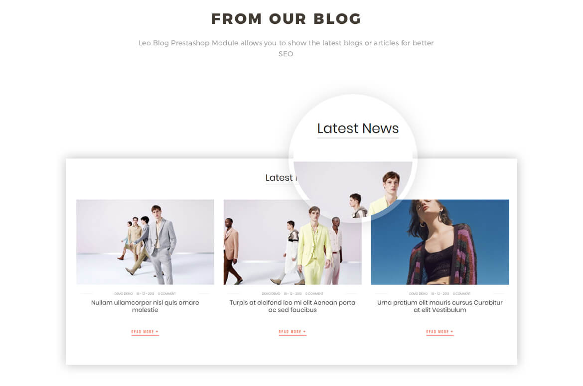 blog Prestashop module - fashion store
