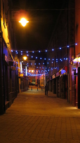 A street in Sligo at night (Ireland)