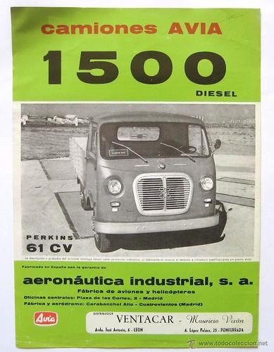 camió Avia 1500 dièsel 1964