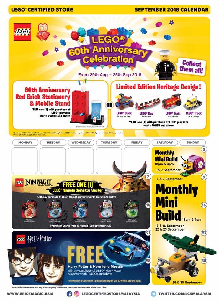 Malaysia Store calendar Sep 2018
