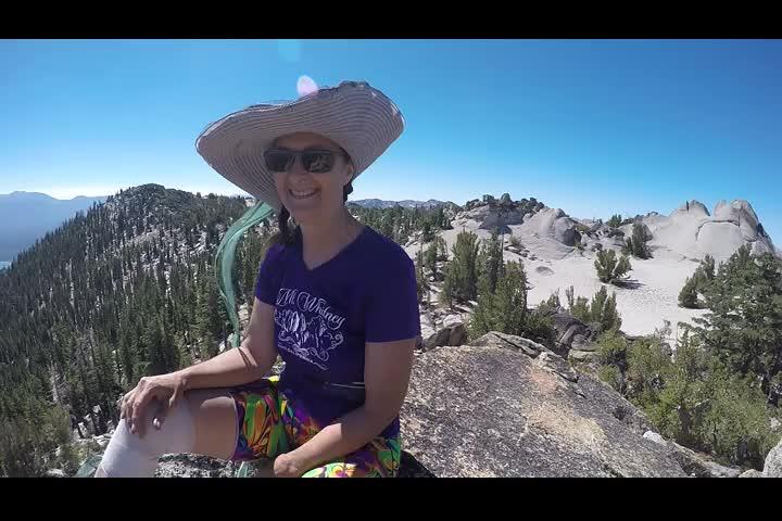 1540 GoPro panorama video looking east toward Lake Tahoe from the summit of Jakes Peak