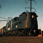 Amtrak GG1 south bound at Elizabeth NJ