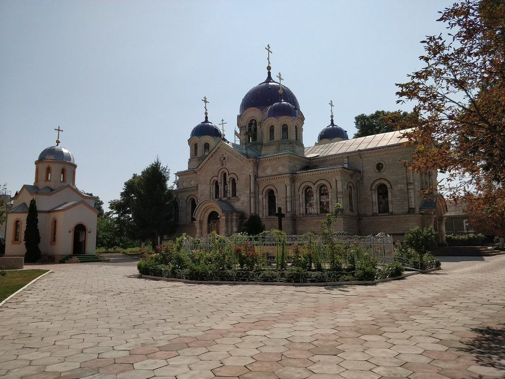 At the monastery in Transnistria