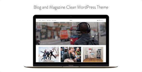 Bold v1.0.3 – Blog and Magazine Clean WordPress Theme