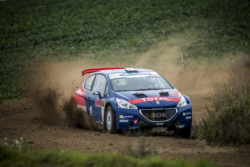 09 PELLIER Laurent (FRA), COMBE Geoffrey (FRA), PEUGEOT RALLY ACADEMY, Peugeot 208 T16, action during the 2018 European Rally Championship PZM Rally Poland at Mikolajki from September  21 to 23 - Photo Gregory Lenormand / DPPI