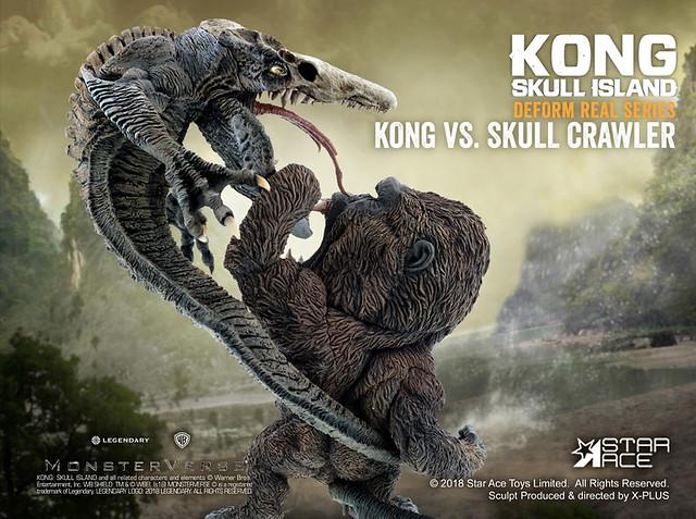 Star Ace Toys Deform Real 系列《金剛:骷髏島》金剛 vs 骷髏爬行怪 Kong vs Crawler