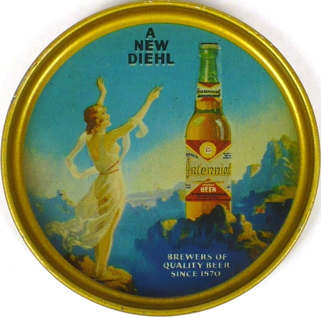 Centennial-Beer-Tip-Trays-3-6-inches-The-Christ-Diehl-Brewing-Co--Post-Prohibition