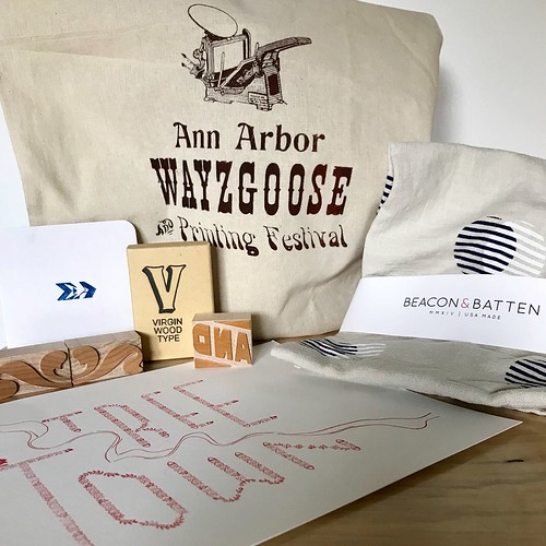 so many beautiful, wonderful things were seen at #annarborwayzgoose #a2wayzgoose #wayzgoose @aadlgram @virginwoodtype @starshapedpress @frenchpaperco @beaconandbatten