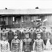 Members of the 1st Aero Squadron in front of a squadron Burgess Model H trainer at a parade field on North Island (later Rockwell Field), San Diego, Cali. (Photo/Air Service, United States Army)