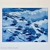Oaks in the Snow - Blue by Dror Miler