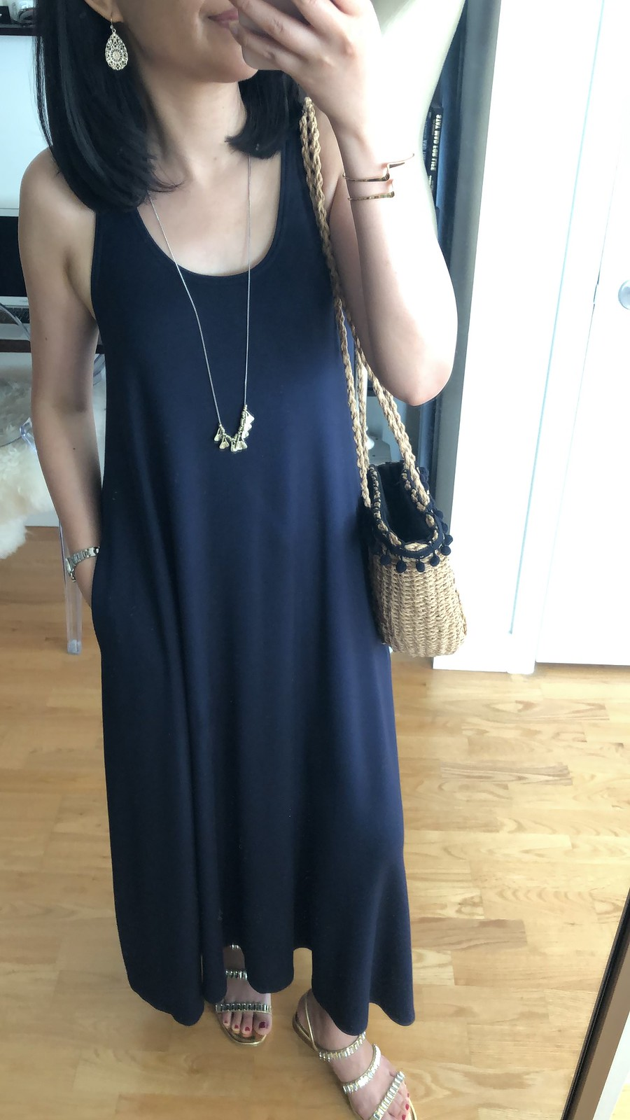Lou & Grey Signaturesoft Midi Swing Dress, size XXS regular