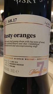 SMWS 68.17 - Rusty oranges