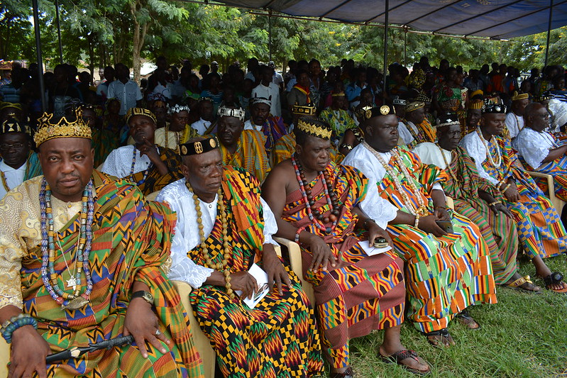 chefs traditionnels durant les festivités agbogbozan