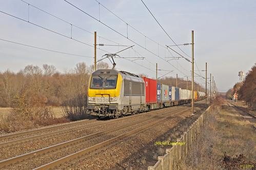 HLE 1330 Train de fret Hausbergen-Mulhouse Nord à Wittelsheim