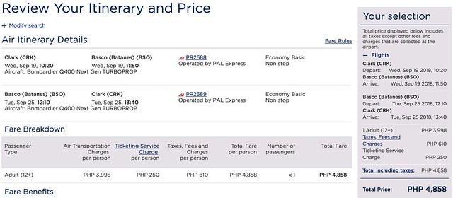 Clark to Batanes Philippine Airlines Promo Roundtrip