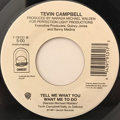 TEVIN CAMPBELL:TELL ME WHAT YOU WANT ME TO DO(LABEL SIDE-B)