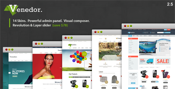 Venedor v2.5.12 - Ultimate WordPress + WooCommerce Theme