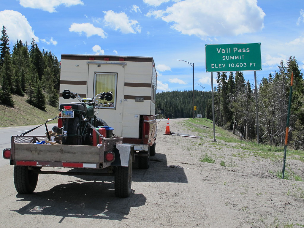 The tRusty truck on Vail Pass, CO.