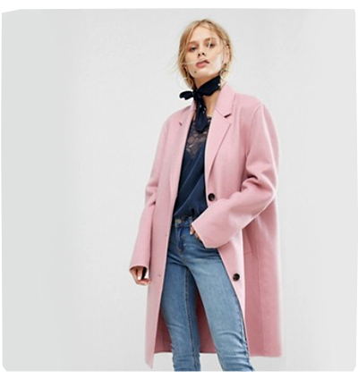 Pink Coat from ASOS