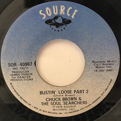 CHUCK BROWN & THE SOUL SEARCHERS:BUSTIN' LOOSE(LABEL SIDE-B)