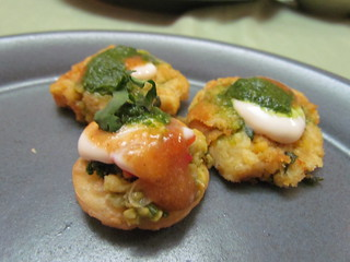 Jewels of India Menu: Papri Chaat; Potato and Chickpea Patties
