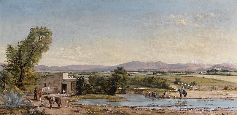 Conrad Wise Chapman - City of Mexico from the Hacienda de los Morales (1899)