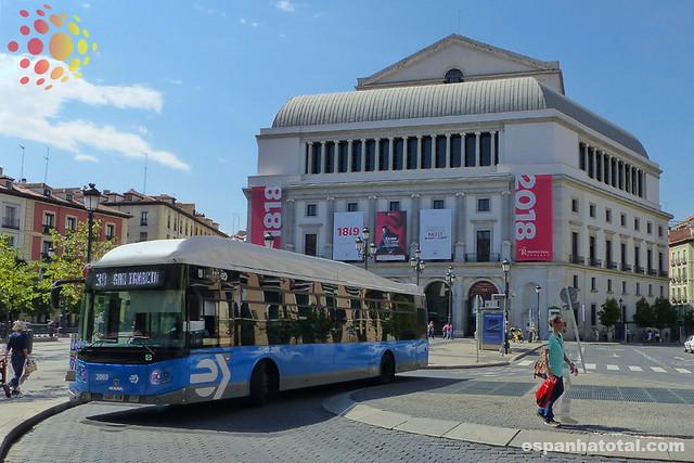os ônibus de Madri