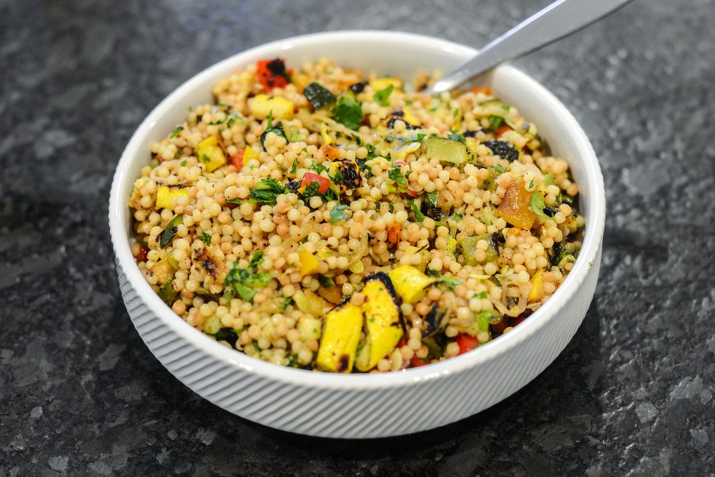 Grilled Vegetables and Israeli Couscous Salad