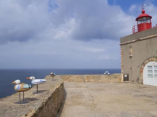 Forte São Miguel en #Nazaré. #farol #ocean #portugal #igersportugal #gaviotas #seagulls #olympus #faroldanazaré #loveportugal #lovenazaré #leiria #surf